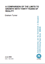 A Comparison of the Limits to Growth with Thirty Years of Reality - Turner 2008